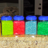 Making colorful and scented rice for preschool